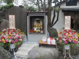 中庭の須彌壇